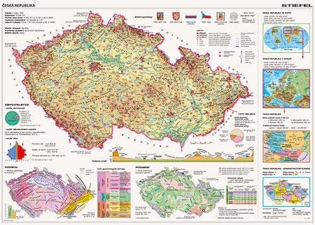 tschechische-republik-physische-karte