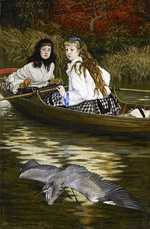 Auf der Themse ein Reiher, James Tissot