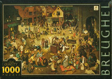 Der Kampf zwischen Karneval und Fasten, Brueghel
