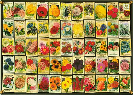 Alte Blumen-Samentüten