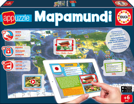 App-Puzzle Weltkarte