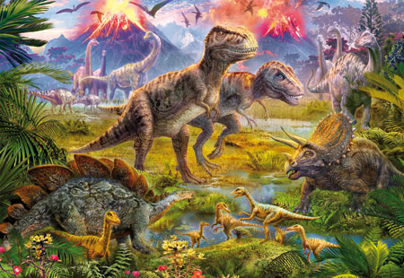 Zusammenkunft der Dinosaurier