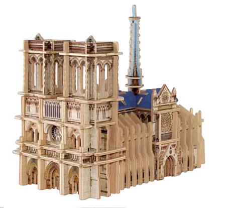 3D Monument aus Holz - Notre Dame