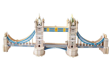 3D Monument aus Holz - Tower Bridge