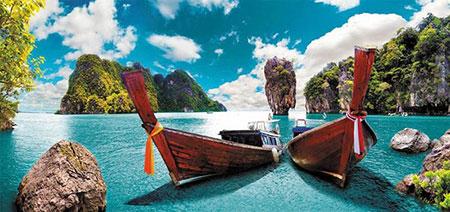 Boote im Sonnenschein