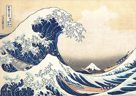 Grosse Welle vor Kanagawa, Hokusai