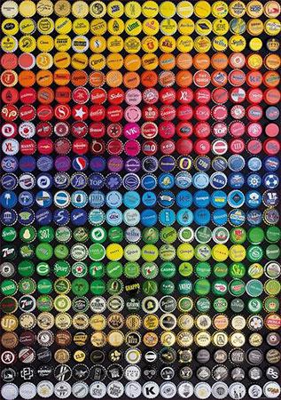 Flaschendeckel Collage