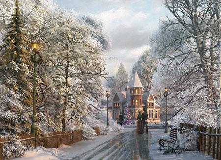 New England Weihnachtsspaziergang