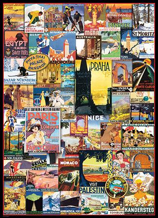 Berühmte Poster - Reise um die Welt