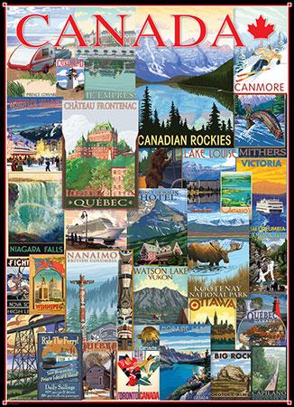 Alte kanadische Postkarten - Collage