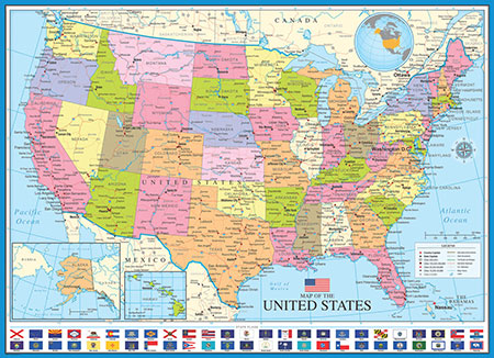 politische-amerika-karte