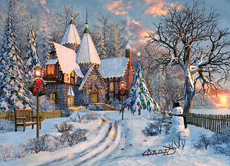 Landhaus im Weihnachtsglanz