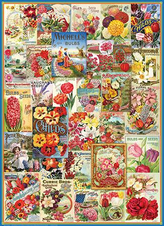 Alte Blumen-Samentüten - Werbeplakate