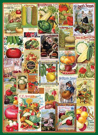 Alte Gemüse-Samentüten - Werbeplakate