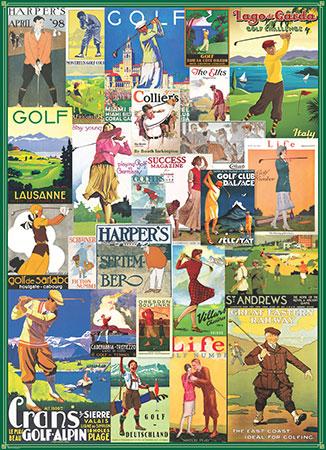 Alte Golf - Werbeplakate
