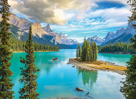 Maligne Lake im Jasper-Nationalpark