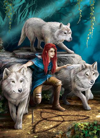 Die Stärke von drei Wölfen