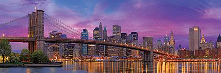 360° Blick auf die Brooklyn Bridge