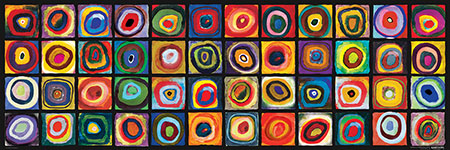 Farbquadrat-Collage, Kandinsky