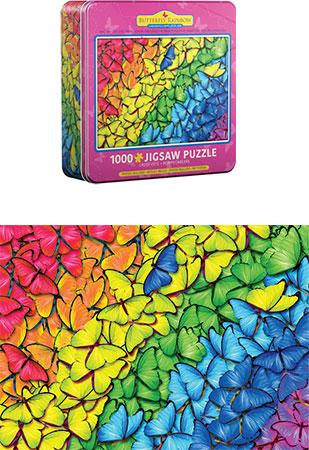 Regenbogen aus Schmetterlingen