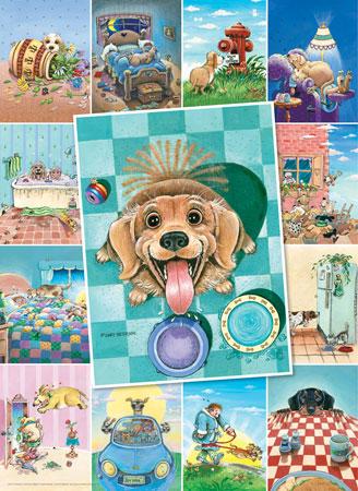 Süße Hunde Collage