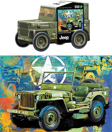Armee Jeep (in schicker Formdose)