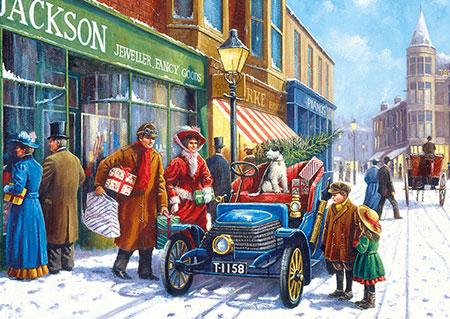 Familieneinkauf zu Weihnachten