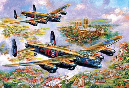 Lancaster Bomber über Lincoln
