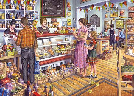 Im nostalgischen Lebensmittelladen