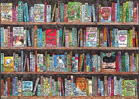 Volles Bücherregal