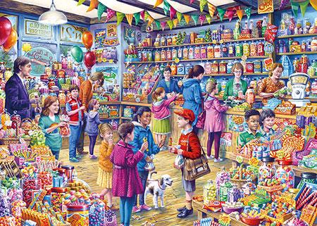 Nostalgischer Süßwarenladen