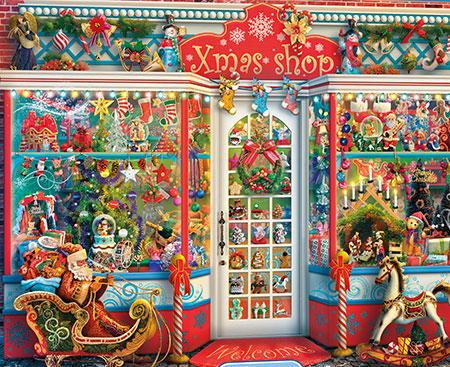 Fensterladen zu Weihnachten