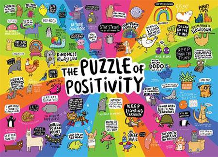 Puzzle von positiven Dingen
