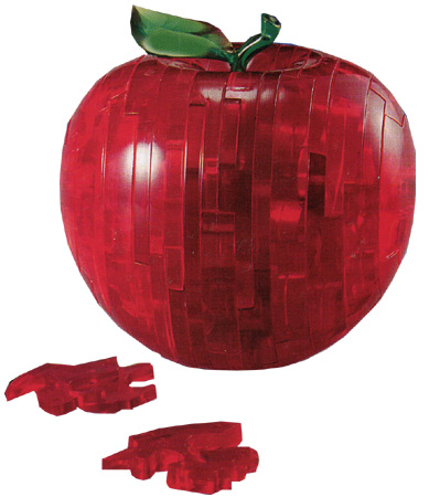 3D Kristallpuzzle - Apfel rot