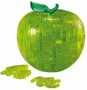 3D Kristallpuzzle - Apfel grün