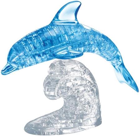 3D Kristallpuzzle - Delfin blau
