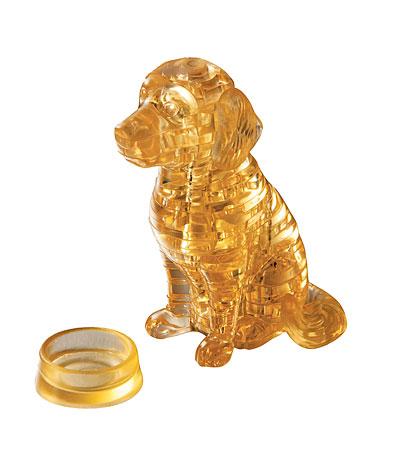 3D Kristallpuzzle - Golden Retriever