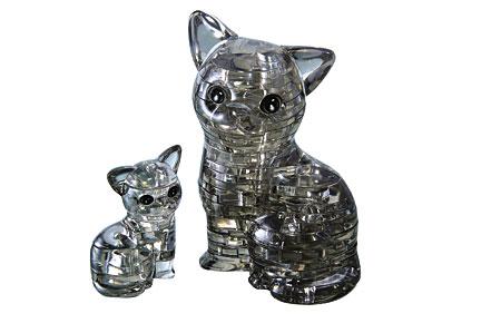 3D Kristallpuzzle - Katze