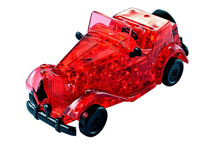 Puzzle 3D Kristallpuzzle - roter Oldtimer