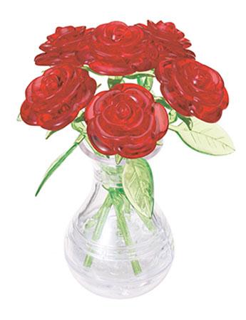 3D Kristallpuzzle - Rote Rosen