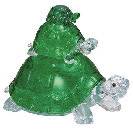 3D Kristallpuzzle - Schildkröten