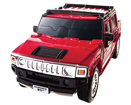 3D - Puzzle Hummer H2, rot