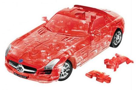 3D - Puzzle Mercedes-Benz SLS AMG, transparent rot