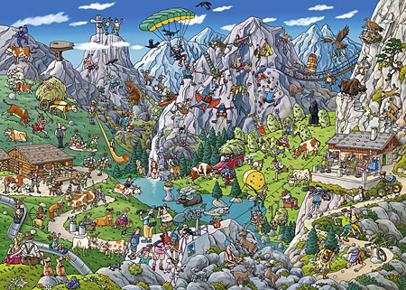 Alpines Treiben