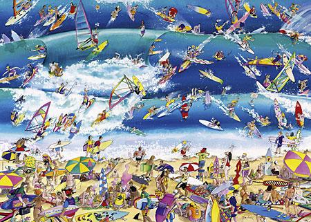 Strand voller Surfer