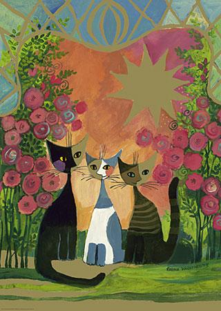 drei-katzen-unterm-rosenstrauch