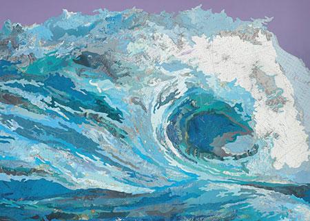 Weltkarte aus Wellen