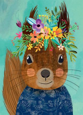 Floral Friends - Süßer Eichhörnchen