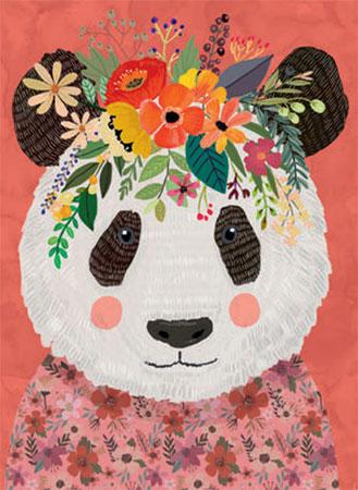 Floral Friends - Niedlicher Panda