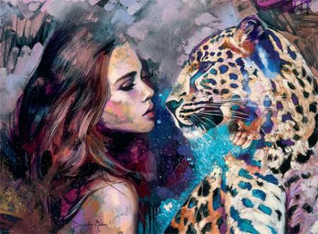 Companions - Frau mit Leopard